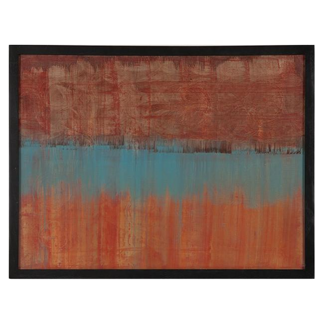 "100-416 Acrylic Red Blue Orange (25"" W x 19"" H)"