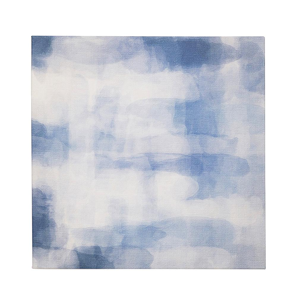 "100-870 Blue Abstract Canvas (20"" x 20"")"