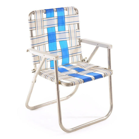 Blue U0026 White Folding Lawn Chair
