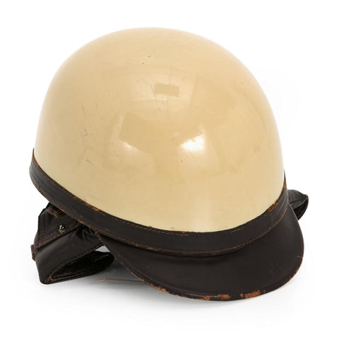 Cream Colored Motorcycle Helmet