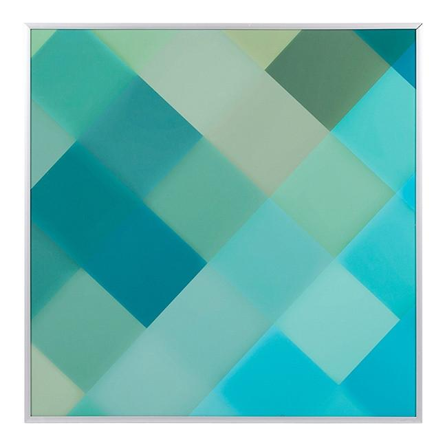 "100-487 Blue Green Diagonal A (21"" x 21"")"