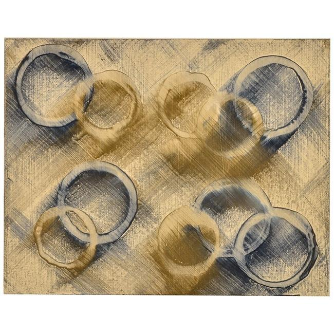 "100-665 Blue Brown Circles (14"" x 11"")"