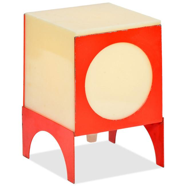 OP Orange Cube Table Light