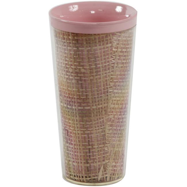 Bamboo Plastic Cylinder Cup - Pink