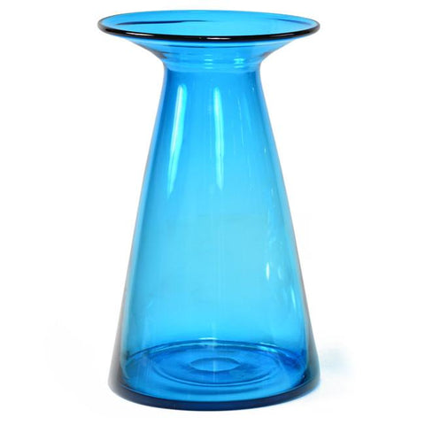 Blue Flare Glass Vase