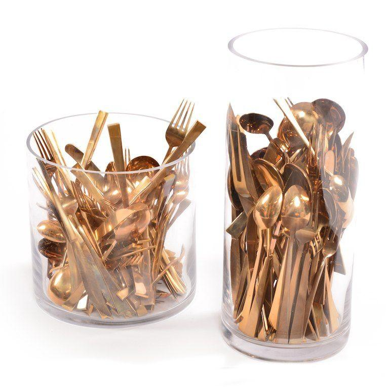 Brass Glass BFA Tableware in Cylinders - Set