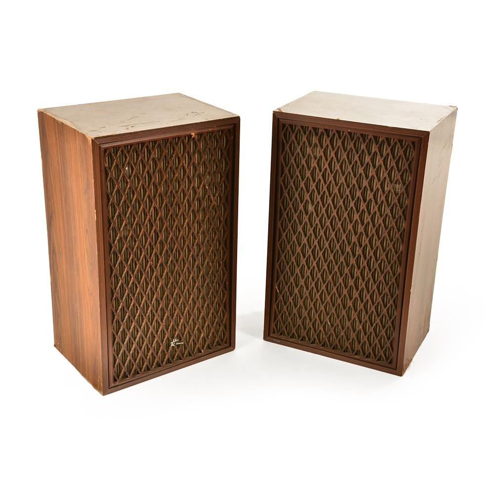 Wood Panelled Speakers