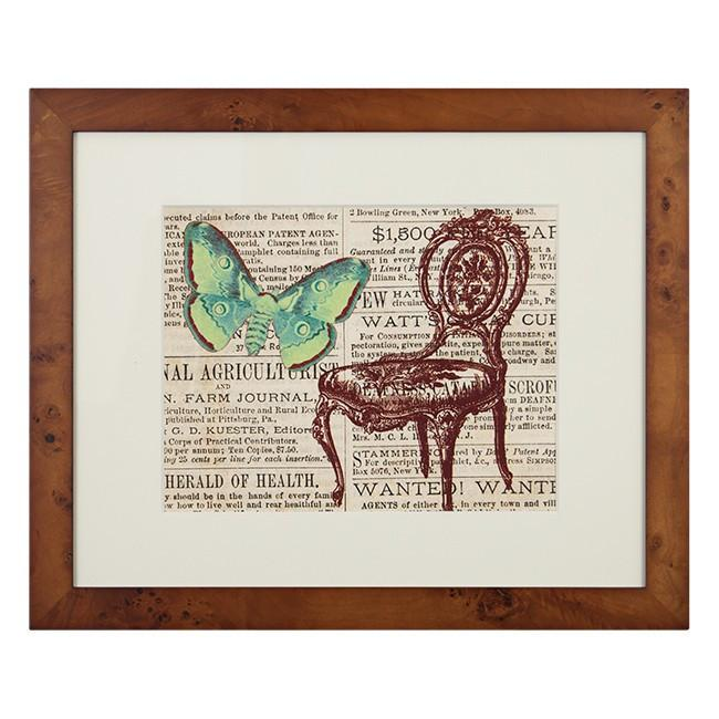 "100-211 Butterfly & Chair (23"" x 19"")"