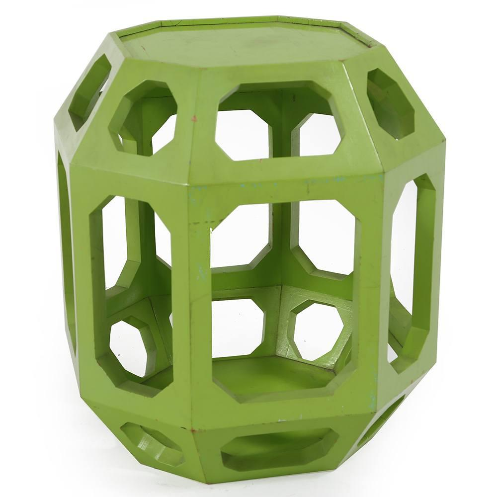 Octagonal Green Side Table