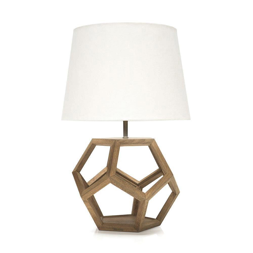 Wood Hexagon Cut Out Light