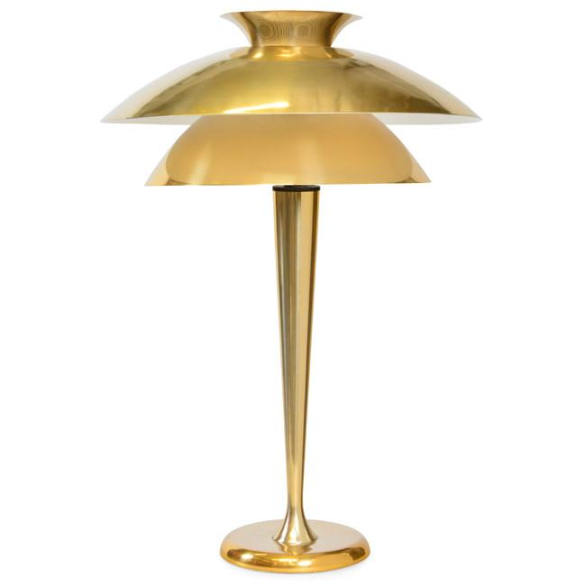 Brass 2 Tier Table Lamp