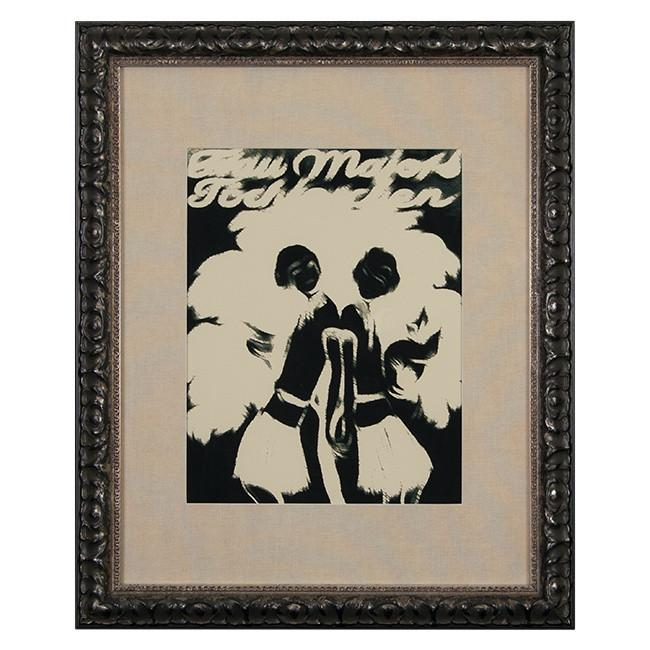 "100-181 Deco Girls Black (19"" x 23"")"