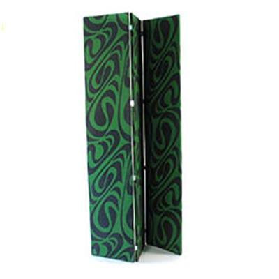 Green Graphic Folding Screen