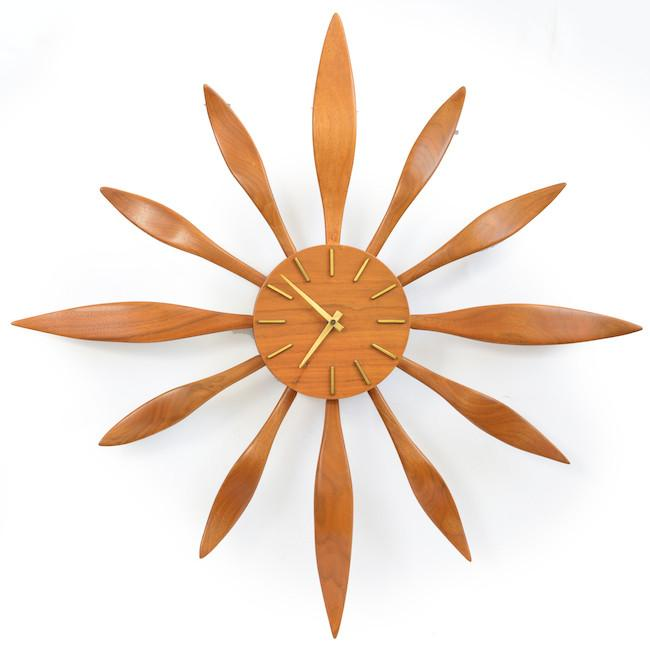 V.H. Woodlums 12 - Petals Wall Clock