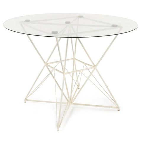White Diamond Outdoor Dining Table