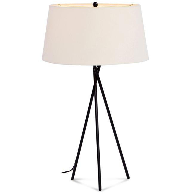 Black Three-Leg Table Lamp