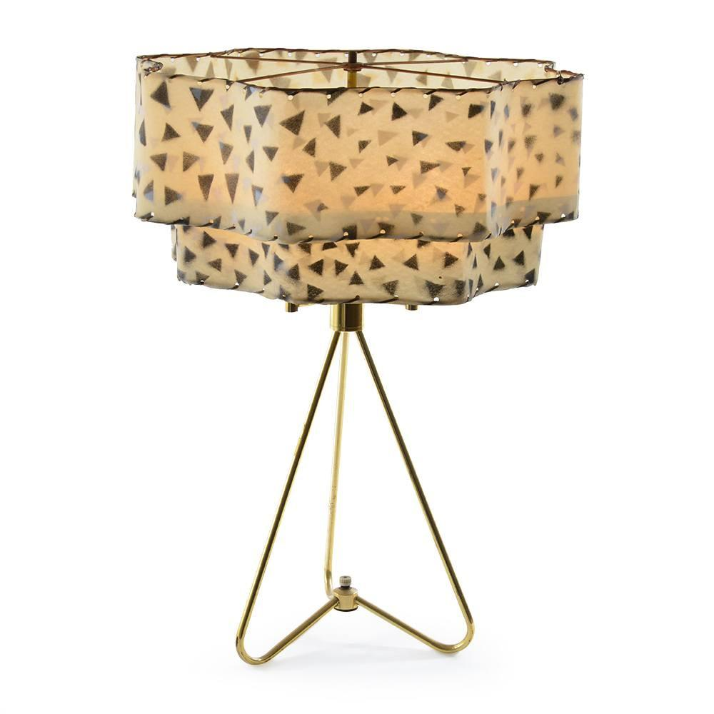 Gold Tripod Lamp with Shade