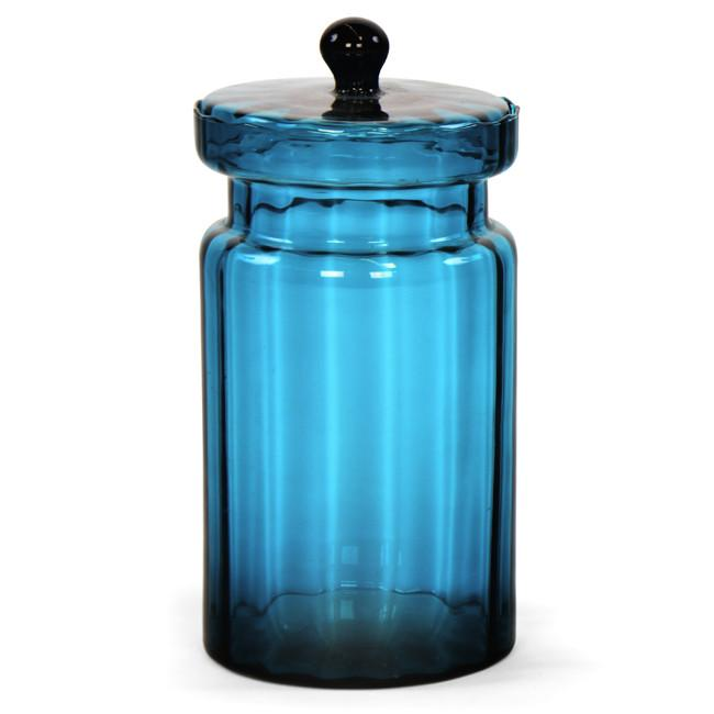 Blue Glass Jar