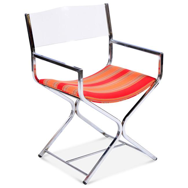 Chrome & Lucite Director Chair