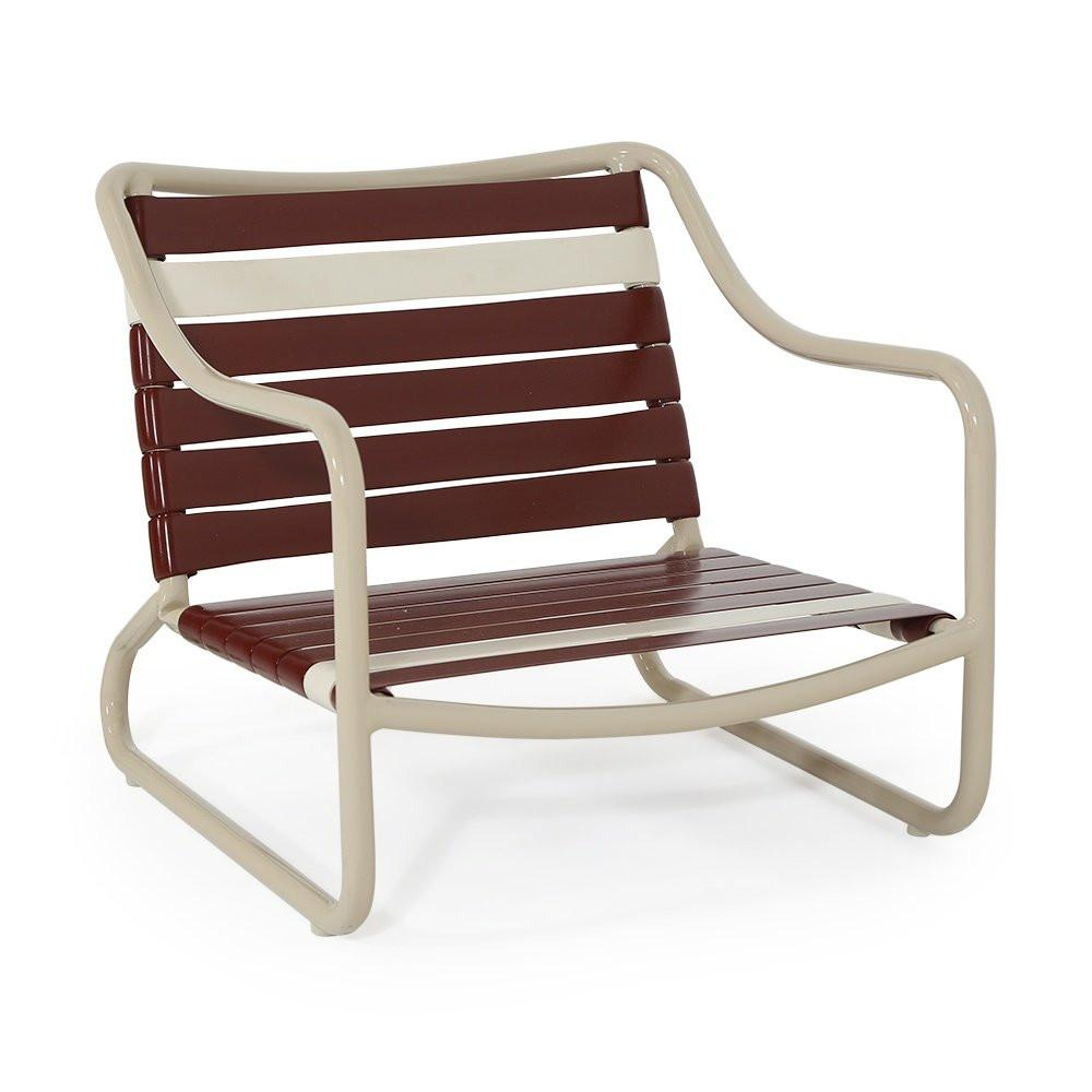 Vinyl Lined Low Outdoor Seat