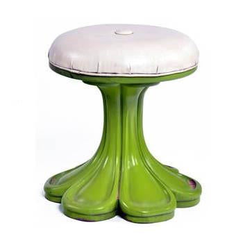 Green Flower Stool