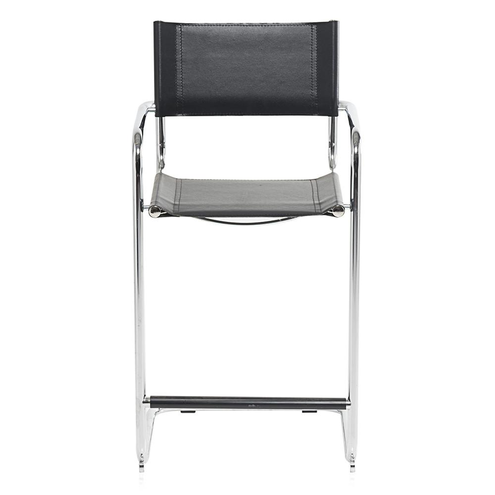 Sensational Chrome And Black Leather Barstool Andrewgaddart Wooden Chair Designs For Living Room Andrewgaddartcom