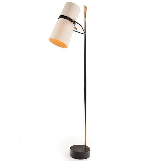 Cylinder Double Shade Floor Lamp