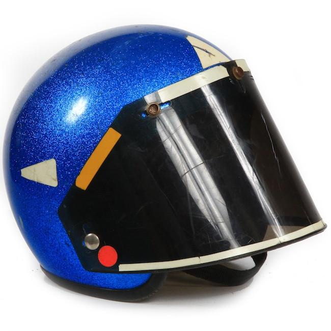 Helmet - Blue Sparkles with Visor