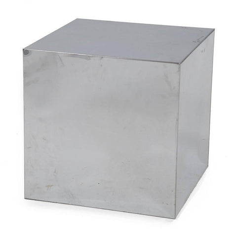 Small Chrome Cube Pedestal