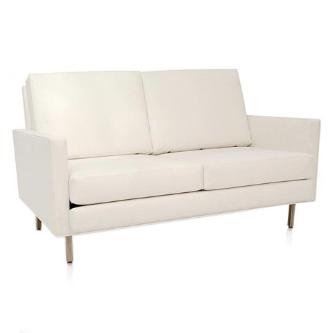 Case Study Love Seat - White