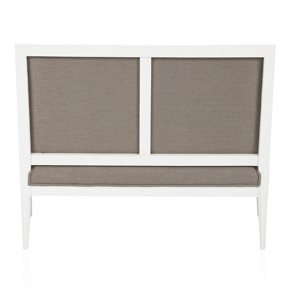 Grey and White Neoclassical Loveseat
