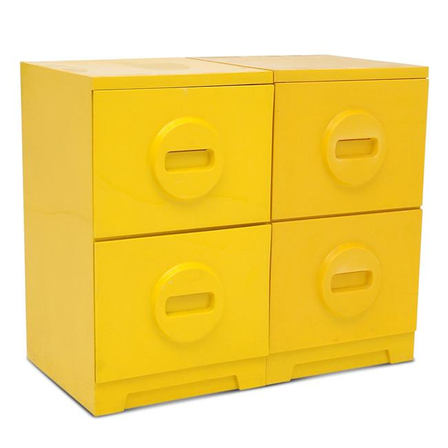 Two Drawer Yellow Cabinet