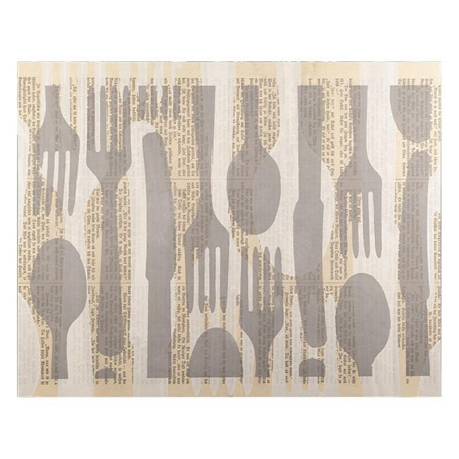 "100-348 Flatware Gray & White (50"" x 40"")"
