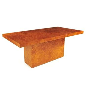Milo Baughman - Gold Burl Dining Table