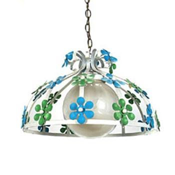 Flower Hanging Pendant - Green & Blue