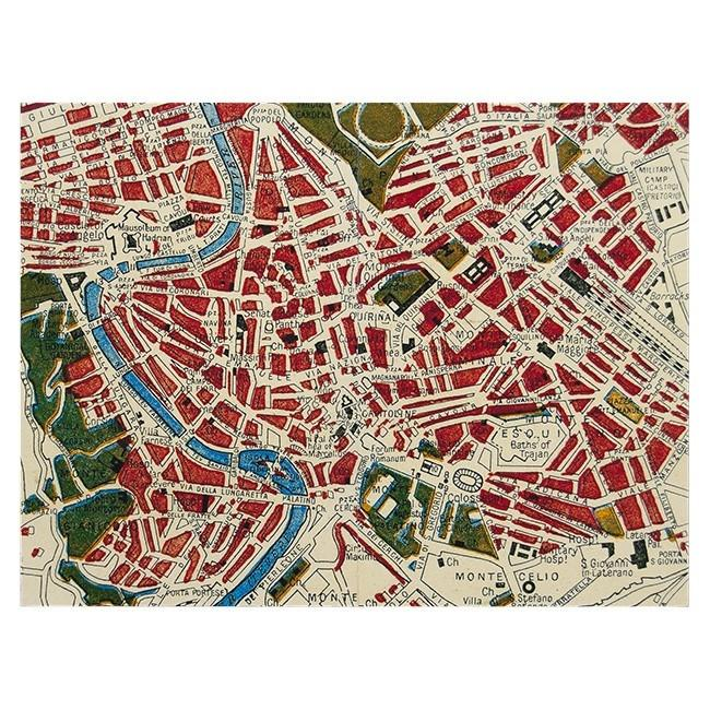"BFA 100-158 Red Rome Map (24"" x 18"")"