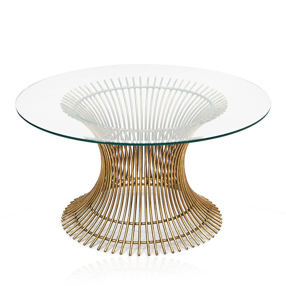 Gold Platner Coffee Table