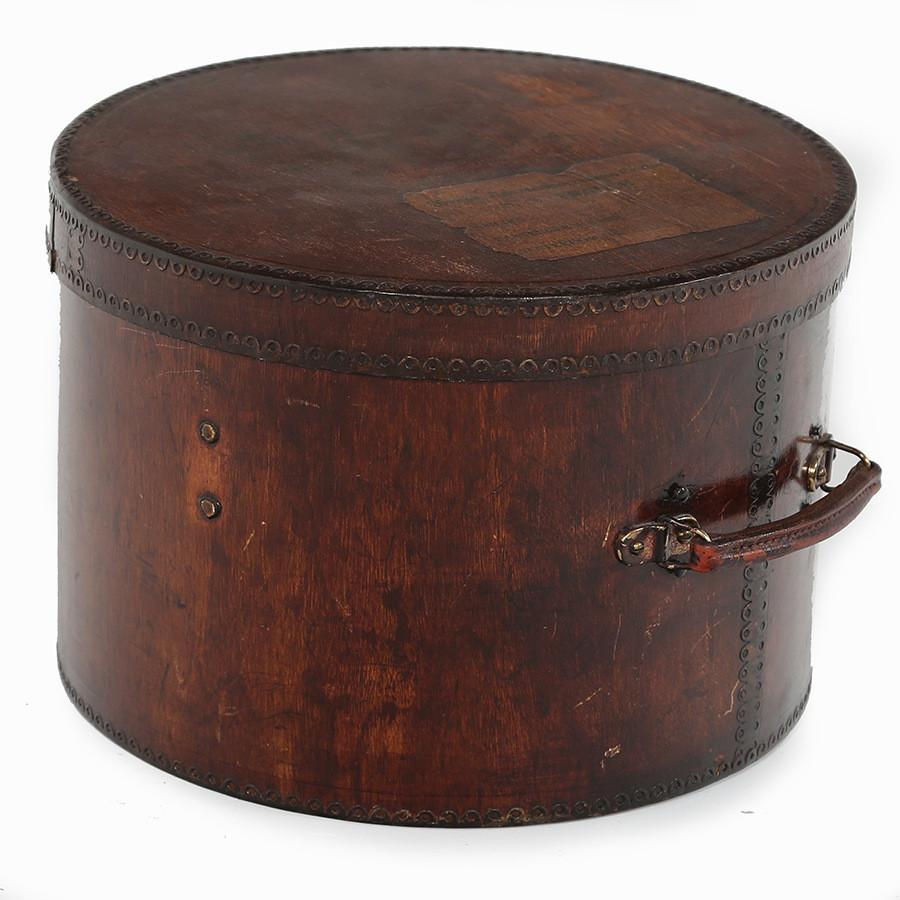 Dark Wood Hatbox