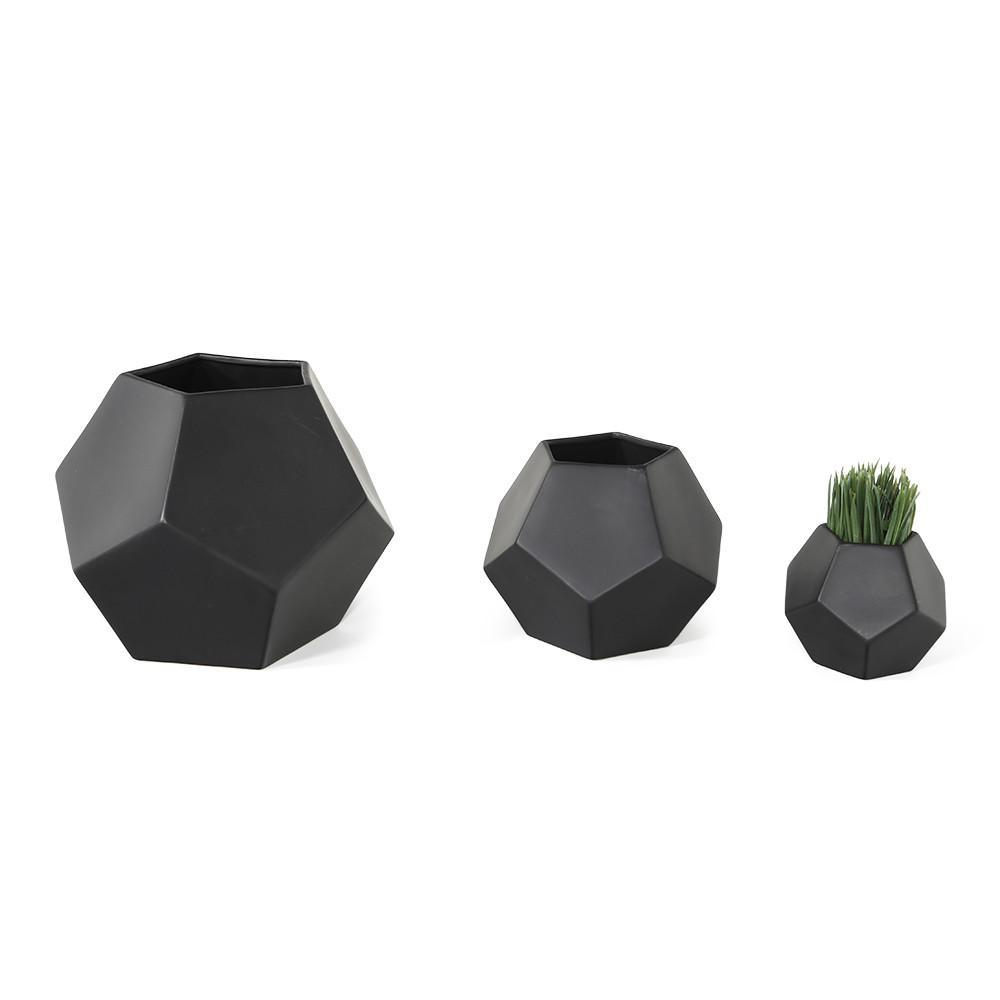 Black Pentagon Planter - Small
