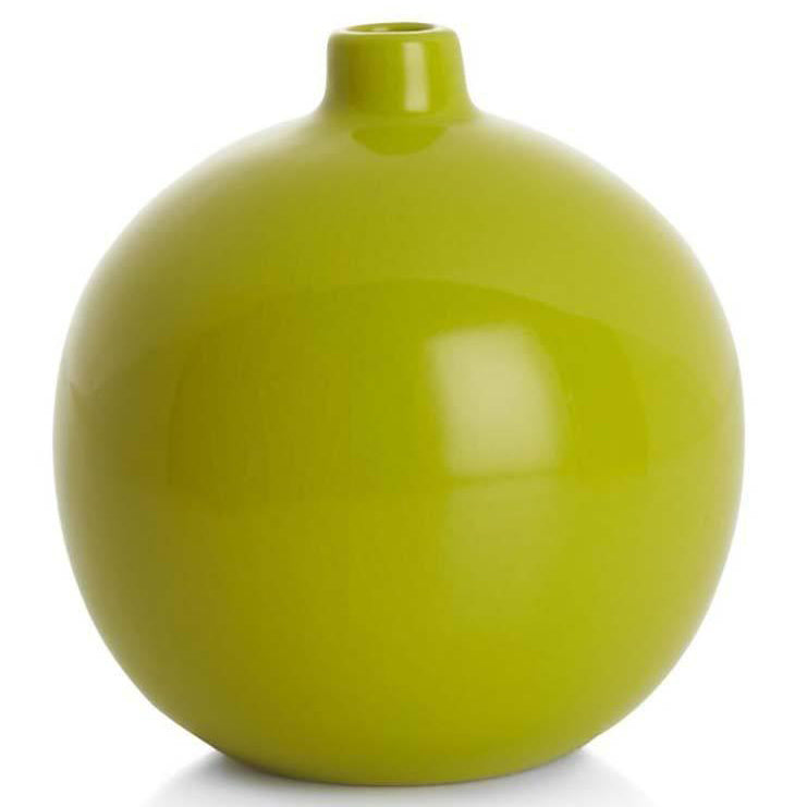 Green BFA Ceramic Vase Perry Round