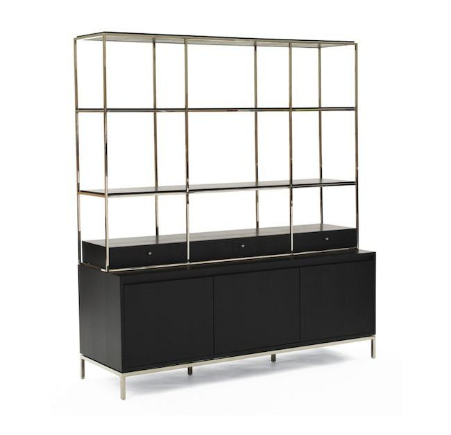 Contemporary Manning Media Console Bookshelf