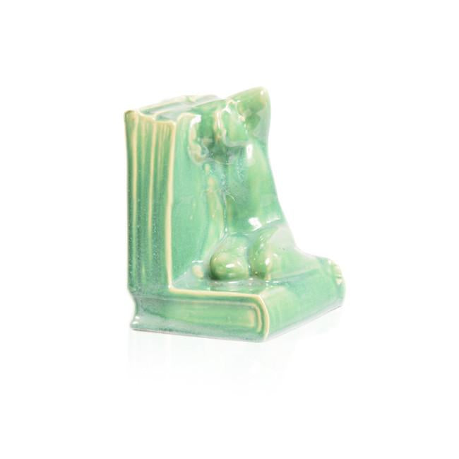 Green Ceramic Bookends