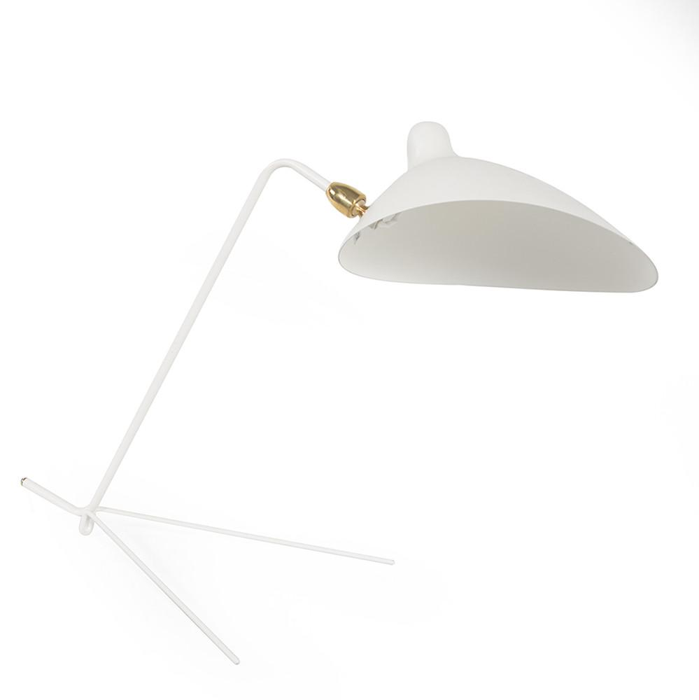 V Base Table Lamp - White