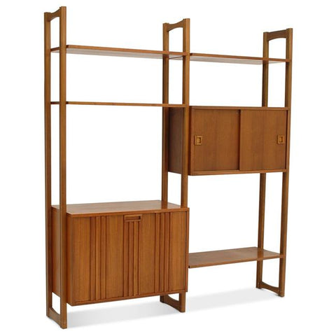 Wooden Two Door Shelf Unit