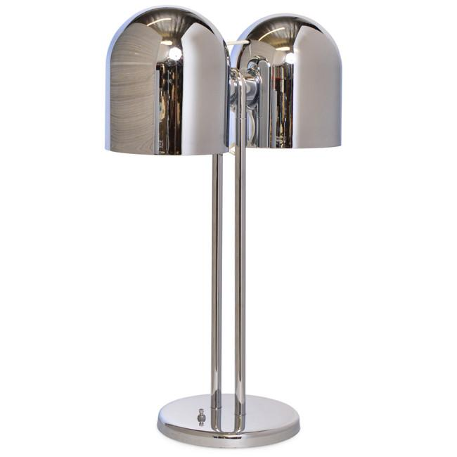 Chrome Double Light Table Lamp Modernica Props