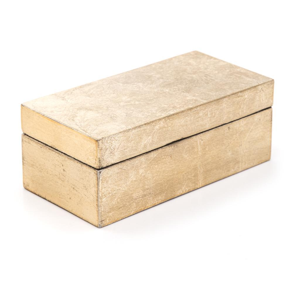 Gold BFA Painted Wood Keepsake Box