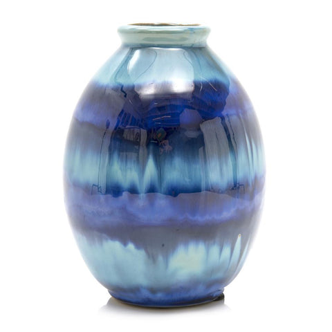 Blue BFA Melting Glaze Vase
