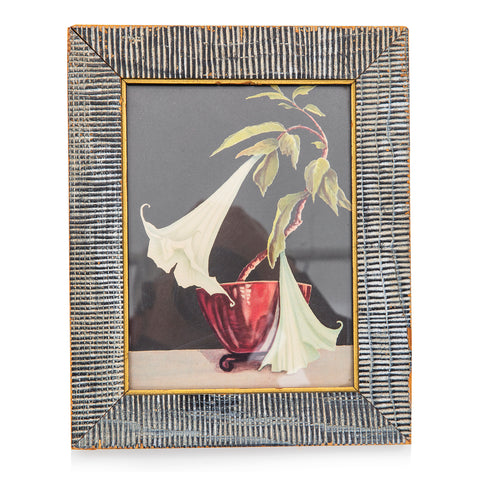 Black BFA Wood Framed Flower Painting