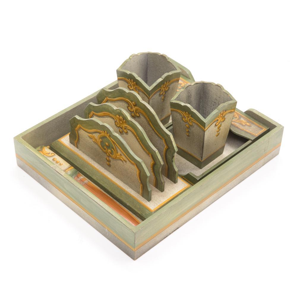 Green BFA Desk Organizer Set
