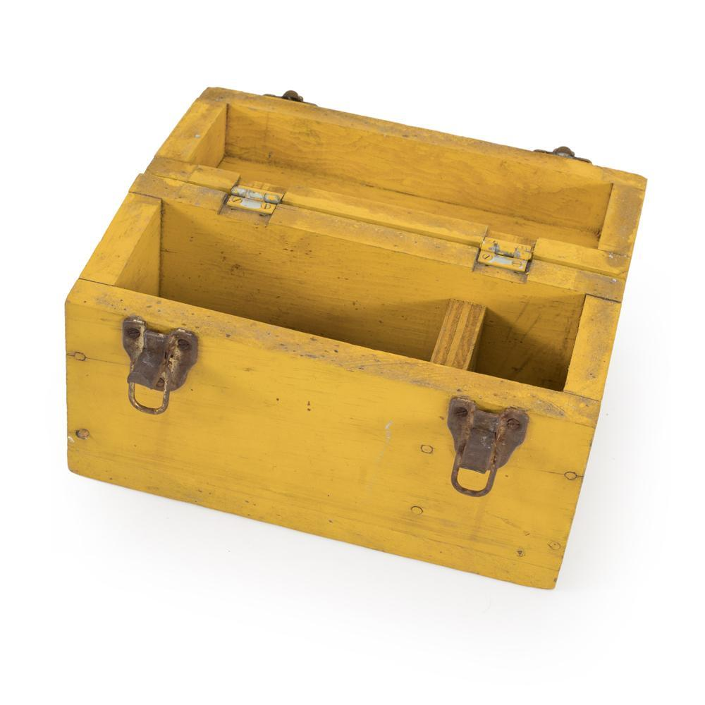 Yellow BFA Rustic Tool Box